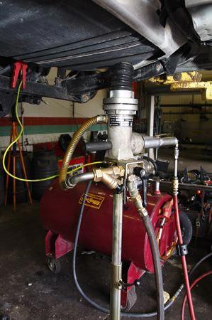 Gas tank draining